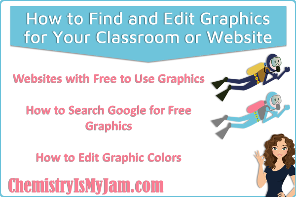 How to find free graphics for your website and edit the colors.