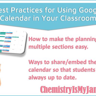 Best Practices for Using Google Calendar in the Classroom