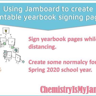 Digital Yearbook Signing Using Jamboard